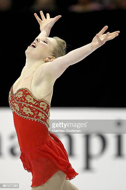 Rachael Flatt competes in the free skate during the US Figure Skating Championships at Spokane Arena on January 23 2010 in Spokane Washington Flatt...