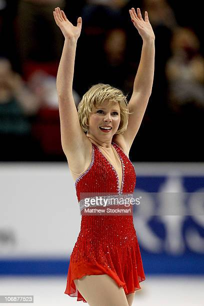 Rachael Flatt competes in the Ladies Free Skate during Skate America at Rose Garden Arena on November 14 2010 in Portland Oregon
