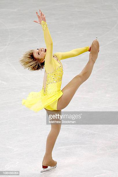 Rachael Flatt competes in the Senior Ladies Short Program during the US Figure Skating Championships at the Greensboro Coliseum on January 27 2011 in...