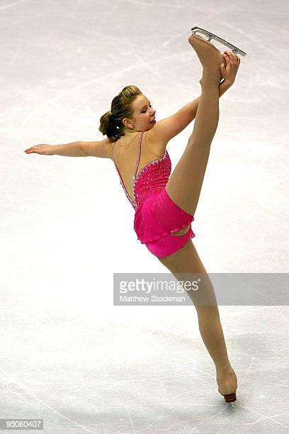 Rachael Flatt competes in the Short Program during the Cancer.Net Skate America at Herb Brooks Arena on November 14, 2009 in Lake Placid, New York.