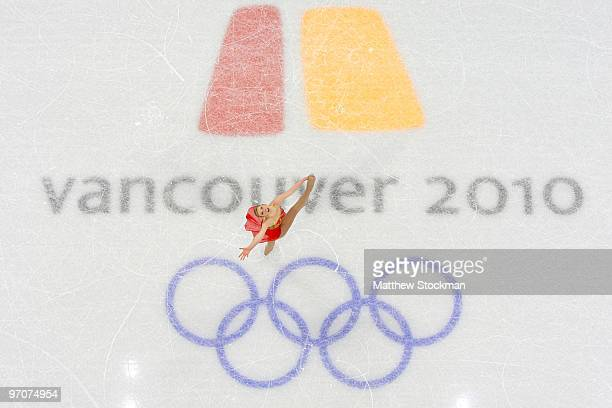 Rachael Flatt of the United States competes in the Ladies Free Skating on day 14 of the 2010 Vancouver Winter Olympics at Pacific Coliseum on...