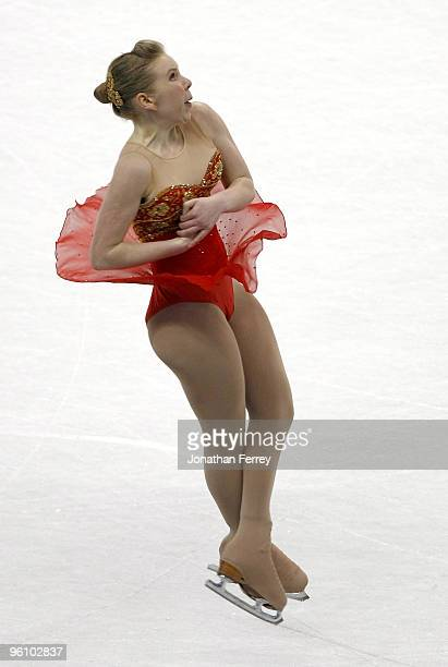 Rachael Flatt skates the ladies' free program en route to finishing first and winning the gold medal at the US Figure Skating Championships at...