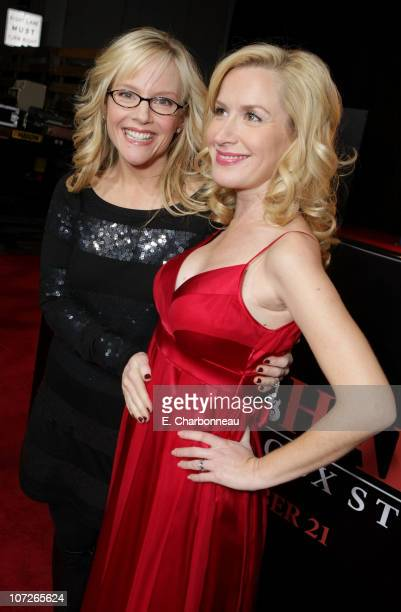Rachael Harris and Angela Kinsey at the Los Angeles premiere of 'Walk Hard' at Grauman's Chinese Theatre on December 12 2007 in Hollywood California