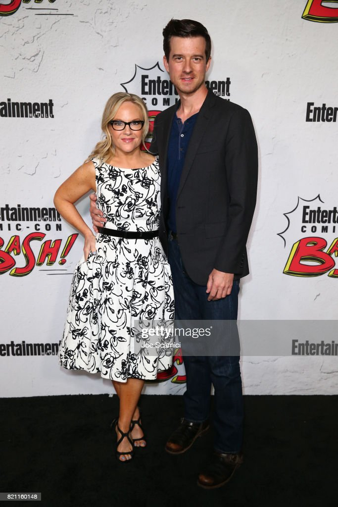 Rachael Harris (L) and Christian Hebel at Entertainment Weekly's annual Comic-Con party in celebration of Comic-Con 2017 at Float at Hard Rock Hotel San Diego on July 22, 2017 in San Diego, California.