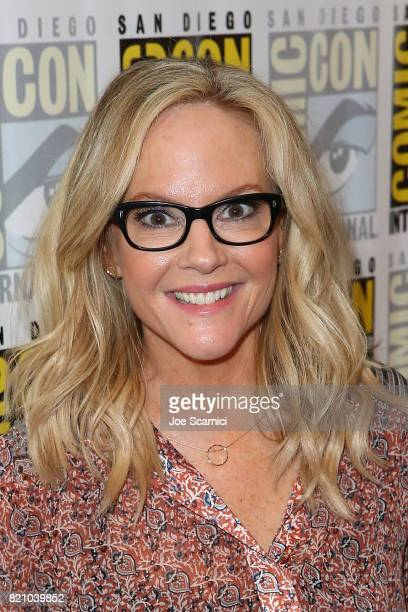 Rachael Harris arrives at the 'Lucifer' press line at ComicCon International 2017 on July 22 2017 in San Diego California