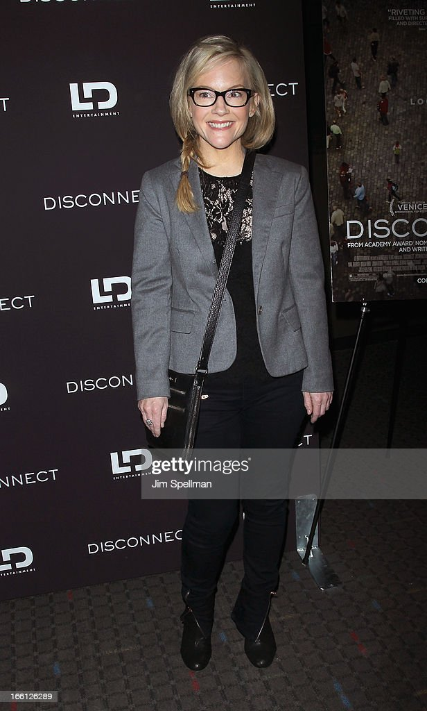 Rachael Harris attends 'Disconnect' New York Special Screening at SVA Theater on April 8, 2013 in New York City.