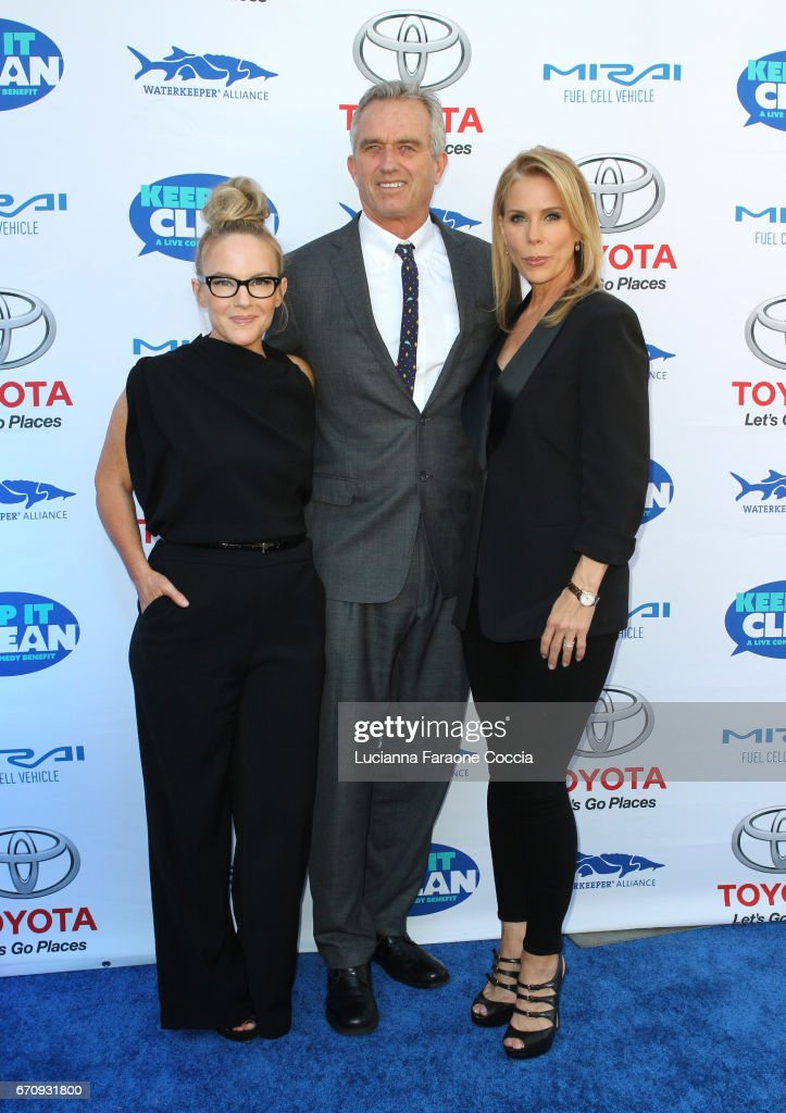 Rachael Harris, Robert F. Kennedy, Jr., and Cheryl Hines attend Keep It Clean Live Comedy Benefit for Waterkeeper Alliance at Avalon Hollywood on April 20, 2017 in Los Angeles, California.