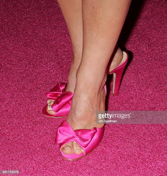 Rachael Harris' shoes during Fat Actress Showtime Network's New York City Premiere Red Carpet at Clearview Chelsea West Cinemas in New York City New...