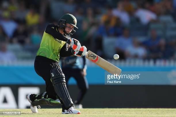 Rachael Haynes of Australia bats during the ICC Women's T20 Cricket World Cup match between Australia and Sri Lanka at the WACA on February 24, 2020...