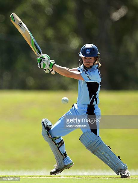 Rachael Haynes of the Breakers bats during the WNCL Final match between South Australia and New South Wales at Blacktown International Sportspark on...