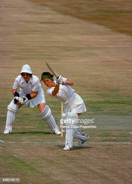 Rachael HeyhoeFlint of England Women batting during her 49 in the 2nd Test match between England Women and Australia Women at Edgbaston Birmingham...