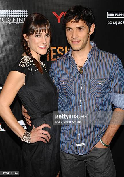 Rachael Kemery and Michael Rady attend Meskeda Los Angeles Premiere at Cinespace on November 30 2010 in Los Angeles California