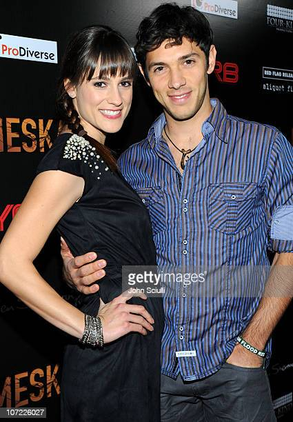 Rachael Kemery and Michael Rady attend the Premiere Of Meskada on November 30 2010 in Hollywood California