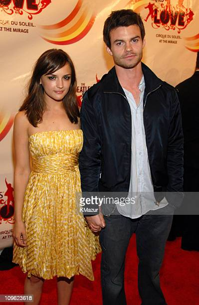 Rachael Leigh Cook and Daniel Gillies during LOVE Cirque du Soleil Celebrates the Musical Legacy of The Beatles Red Carpet at The Mirage Hotel and...