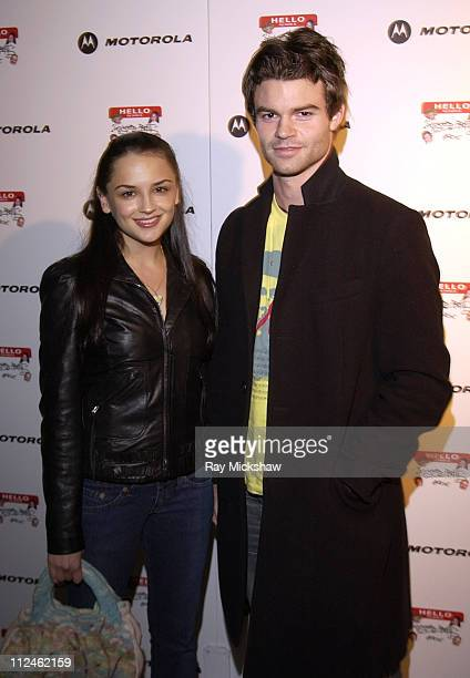 Rachael Leigh Cook and Daniel Gillies during Motorola Hosts Opening of Hollywood Graffiti First Exhibition from Artist Jeff Vespa to Benefit OPCC at...