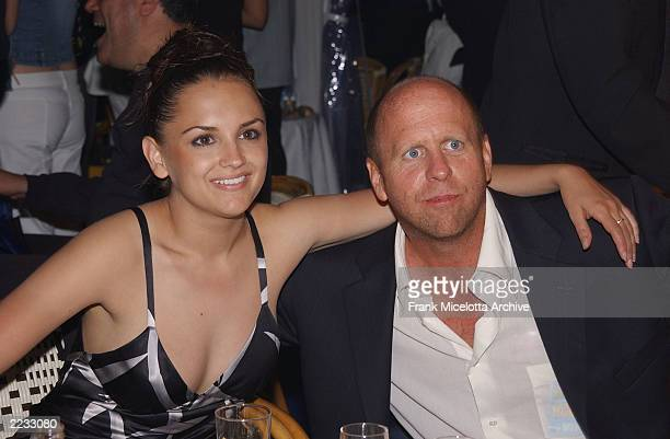 Rachael Leigh Cook and director Gavin Grazer at the party for 'Scorched' at the 55th Cannes Film Festival in Cannes France May 17 2002 Photo by Frank...