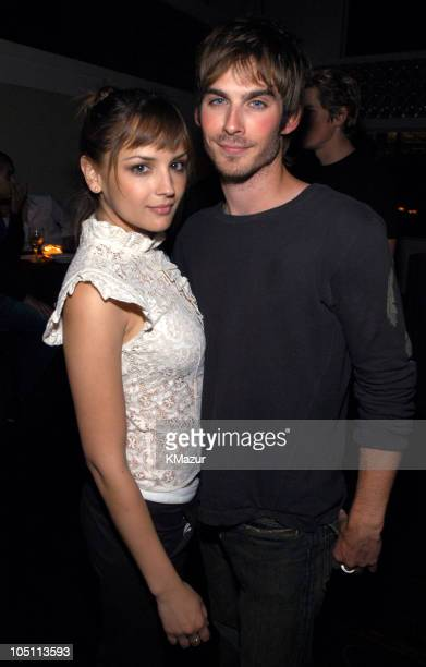 Rachael Leigh Cook and Ian Somerhalder during 2003 WB UpFront After Party at Chelsea Piers in New York City New York United States