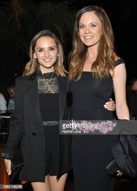 Rachael Leigh Cook and Rachel Boston attend HBO's Momentum Generation Premiere after party at The Bungalow on November 05 2018 in Santa Monica...
