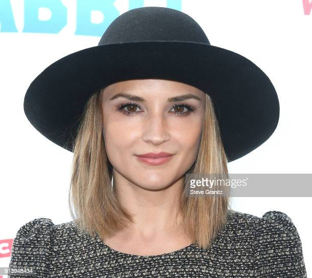 Rachael Leigh Cook arrives at the Premiere Of Columbia Pictures' 'Peter Rabbit' at The Grove on February 3 2018 in Los Angeles California