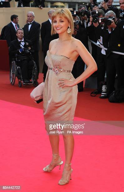 Rachael Leigh Cook arrives for the screening of 'Kung Fu Panda' during the 61st Cannes Film Festival in Cannes France