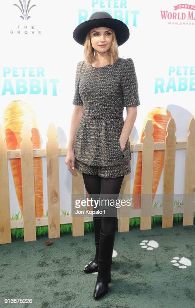 Rachael Leigh Cook attends the Los Angeles Premiere 'Peter Rabbit' at The Grove on February 3 2018 in Los Angeles California