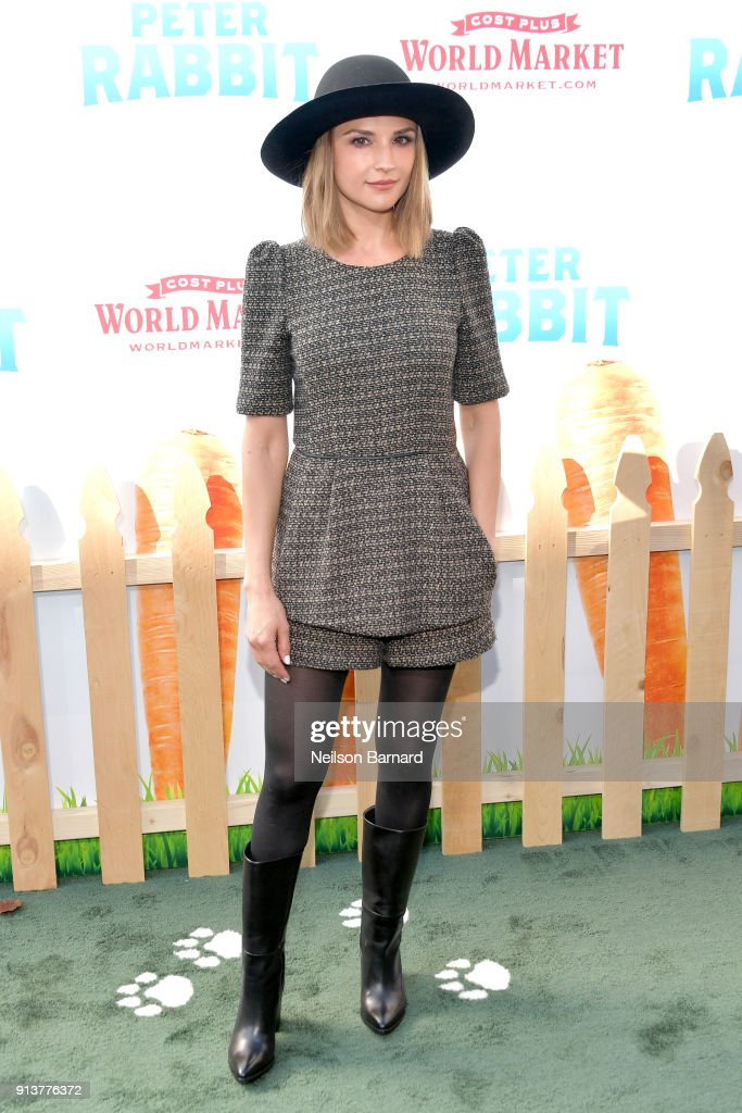 Rachael Leigh Cook attends the premiere of Columbia Pictures' 'Peter Rabbit' at The Grove on February 3, 2018 in Los Angeles, California.