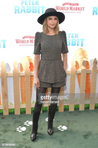 Rachael Leigh Cook attends the premiere of Columbia Pictures' 'Peter Rabbit' at The Grove on February 3 2018 in Los Angeles California