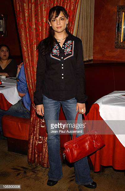 Rachael Leigh Cook during Amnesty International and Designer Tracy Wilkinson Benefit at Cafe La Boheme in West Hollywood California United States