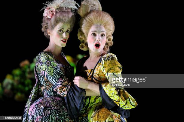 Rachael Lloyd as Selene and Claire Booth as Berenice in The Royal Opera's production of George Frideric Handel's Berenice at The Linbury Theatre in...