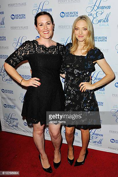 Rachael MacFarlane and Amanda Seyfried arrive at the 2016 Heaven On Earth Gala at The Garland on September 24 2016 in North Hollywood California