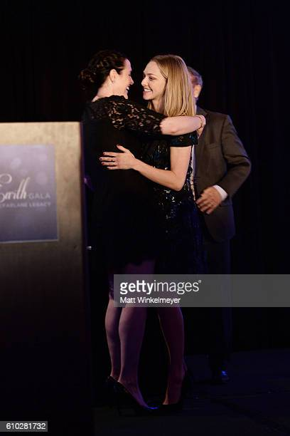 Rachael MacFarlane and Amanda Seyfried attend the Heaven On Earth Gala The Perry MacFarlane Legacy honoring 20th Century Fox TV Animation Amanda...