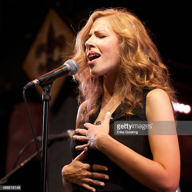 Rachael Price of Lake Street Dive performs at Tipitina's on October 1 2014 in New Orleans Louisiana