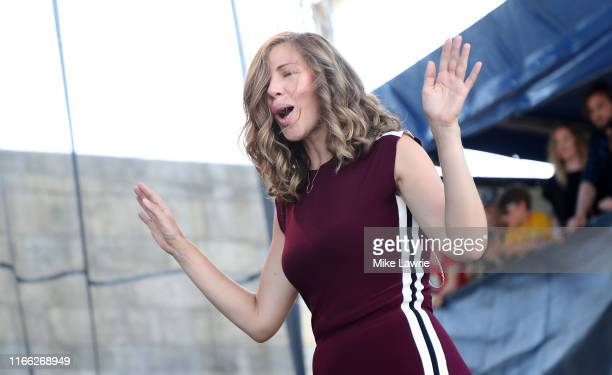 Rachael Price of Lake Street Dive performs during day three of the 2019 Newport Folk Festival at Fort Adams State Park on July 28, 2019 in Newport,...