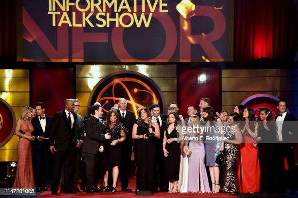 Rachael Ray accepts the Outstanding Informative Talk Show Host award for 'Rachael Ray' with cast and crew onstage at the 46th annual Daytime Emmy...