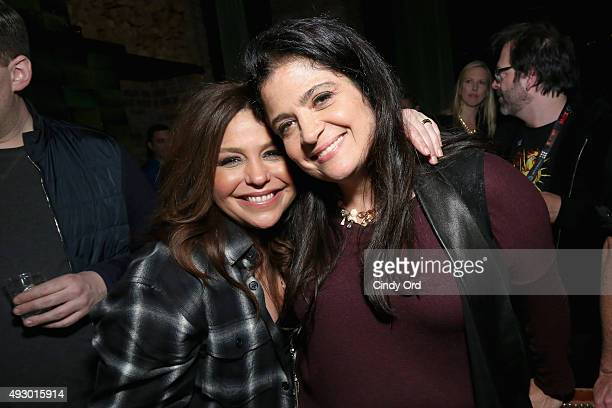 Rachael Ray and Alex Guarnaschelli attend Rachael Ray's Feedback Chefs and Cocktails part of Mohegan Sun's Late Night Party Series during Food...