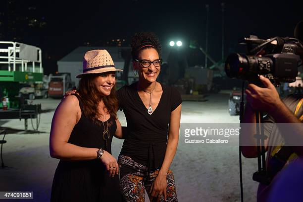Rachael Ray and Carla Hall attends Amstel Light Burger Bash presented by Pat LaFrieda Meats hosted by Rachael Ray during the Food Network South Beach...