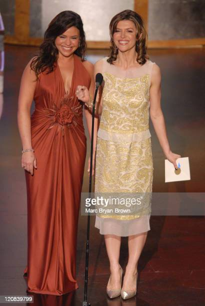 Rachael Ray and Finola Hughes presenters during 33rd Annual Daytime Emmy Awards Show at Kodak Theatre in Hollywood CA United States