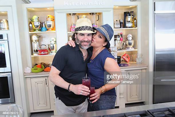 Rachael Ray and her husband John Cusimano give a culinary demonstration at the Whole Foods Market Grand Tasting Village Featuring MasterCard Grand...