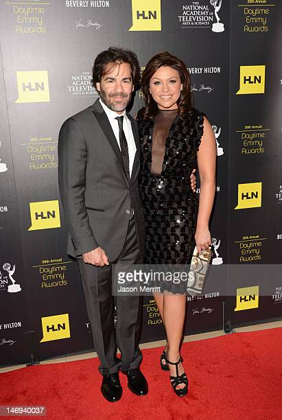 Rachael Ray and John Cusimano arrive at The 39th Annual Daytime Emmy Awards broadcasted on HLN held at The Beverly Hilton Hotel on June 23, 2012 in...