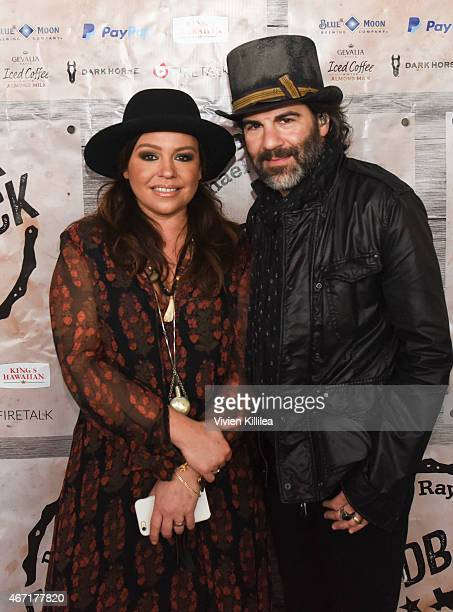 Rachael Ray and John Cusimano attend Gevalia Iced Coffee with Almond Milk at Rachael Ray's Feedback House on March 21 2015 in Austin Texas