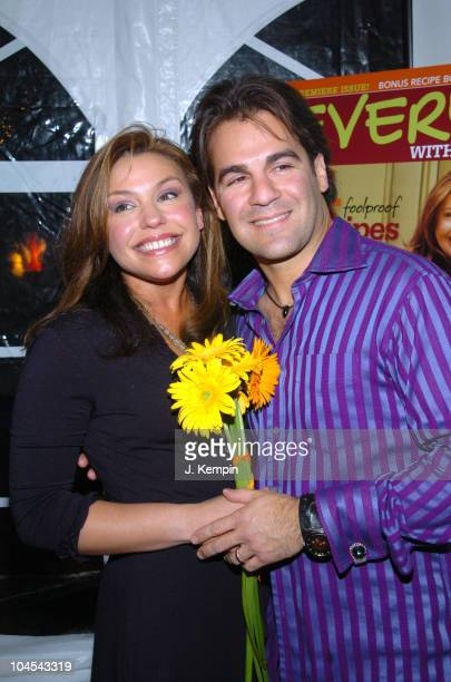Rachael Ray and John Cusimano during National Launch of Every Day With Rachael Ray at Cafe St Barths in New York City New York United States