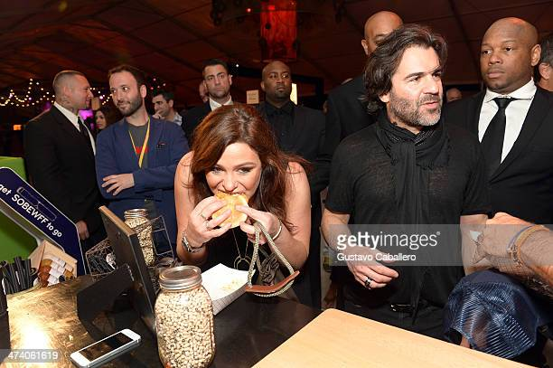 Rachael Ray and John M Cusimano attend Amstel Light Burger Bash presented by Pat LaFrieda Meats hosted by Rachael Ray during the Food Network South...
