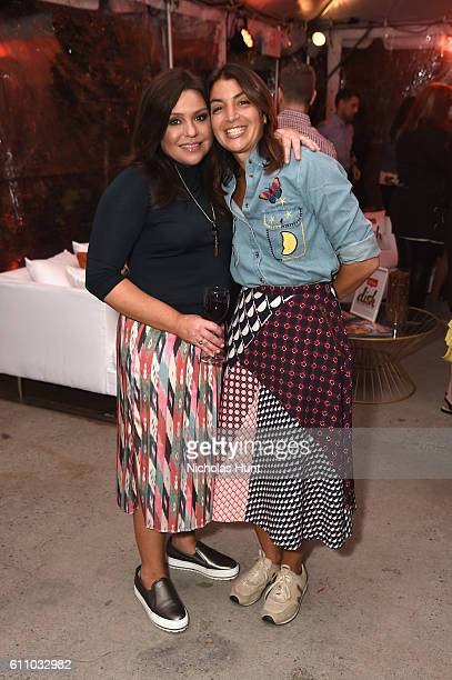 Rachael Ray and Mary Giuliani attend the celebration of the launch of Rachael Ray's Nutrish DISH with a Puppy Party on September 28, 2016 in New York...
