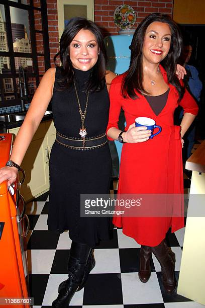 """Rachael Ray and Rachael Ray Wax Figure during Rachael Ray Meets """"Rachael Ray"""" at the Madame Tussauds Wax Museum in New York City - February 21, 2007..."""