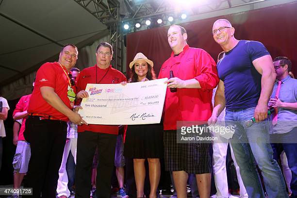 Rachael Ray and Robert Irvine attend Amstel Light Burger Bash presented by Pat LaFrieda Meats hosted by Rachael Ray during the Food Network South...