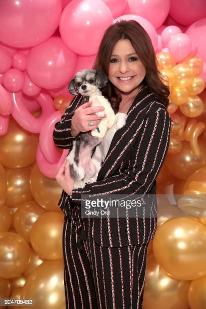 Rachael Ray and Tinkerbelle attend the celebration of the 10th anniversary of her pet food brand Nutrish at Gary's Loft on February 26 2018 in New...