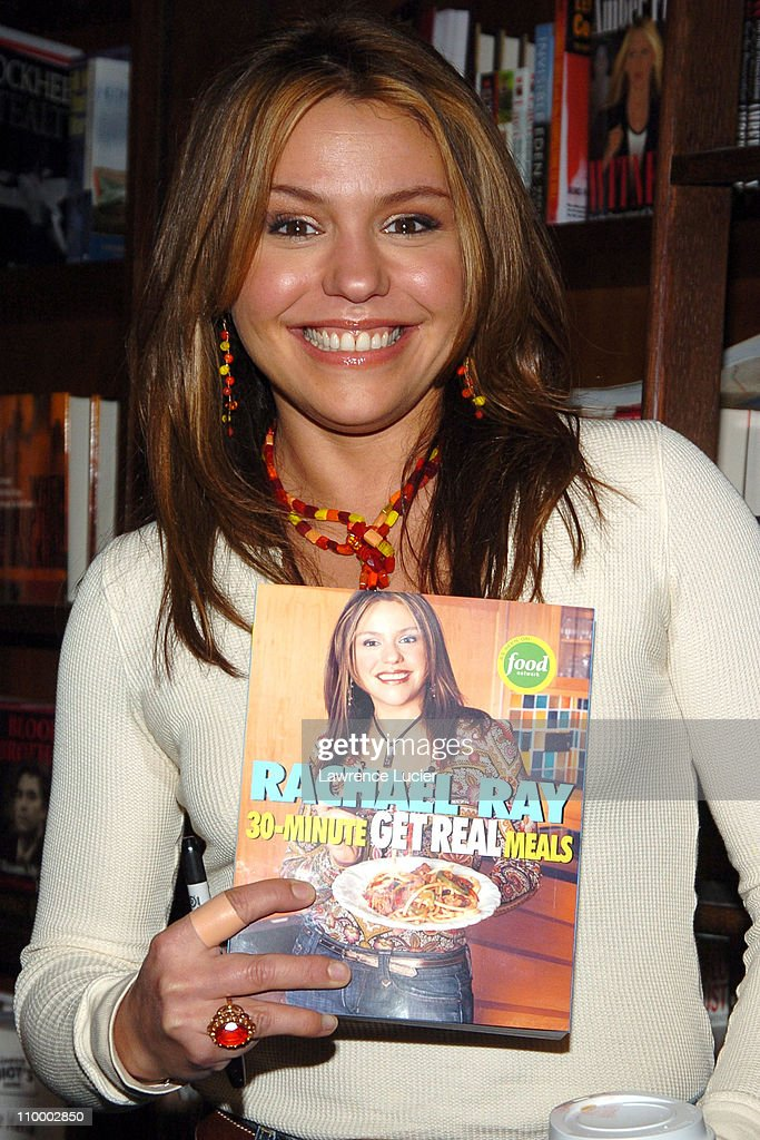 "Rachael Ray Signs Her Book ""30 Minute Get Real Meals"" at Barnes & Noble in New"