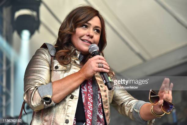 Rachael Ray introduces performers at Rachael Ray's Feedback Party during the 2019 SXSW Conference and Festival at Stubbs Bar-B-Que on March 16, 2019...