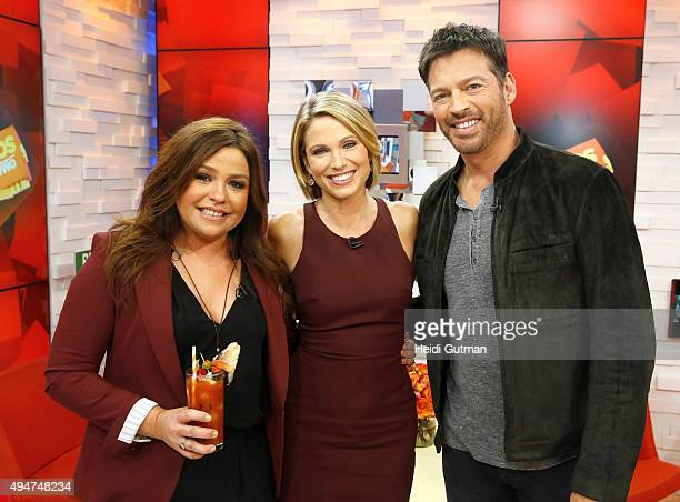 """Rachael Ray prepares season dishes on """"Good Morning America,"""" 10/28/15, airing on the Walt Disney Television via Getty Images Television Network."""