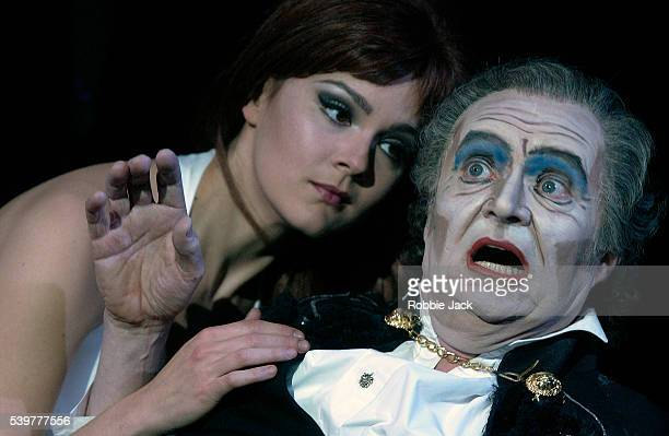 Rachael Stirling and Jim Broadbent in the production Theatre of Blood at the National Theatre London